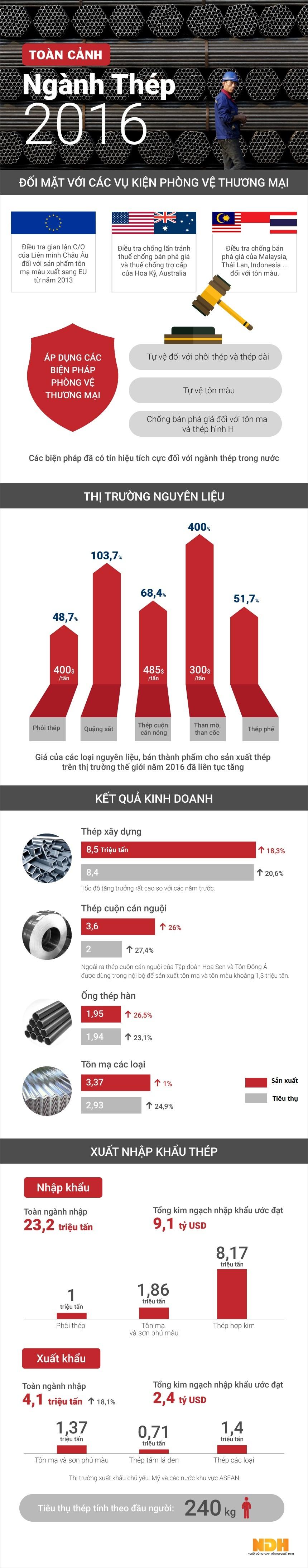 Toàn cảnh ngành thép năm 2016